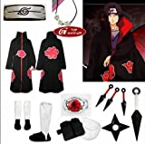 Japanese Anime Naruto Cosplay Uchiha Itachi Cosplay Costume Naruto Clothes Full Set