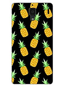 Pineapples - Summer Love - Designer Printed Hard Back Shell Case Cover for Xiaomi RedMi 1S Superior Matte Finish Xiaomi RedMi 1S Cover Case