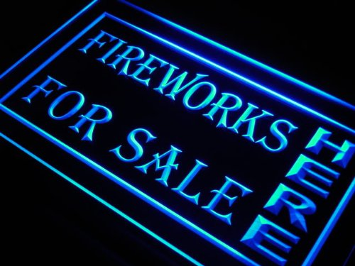 Adv Pro J979-B Fireworks For Sale Here Display Led Light Sign