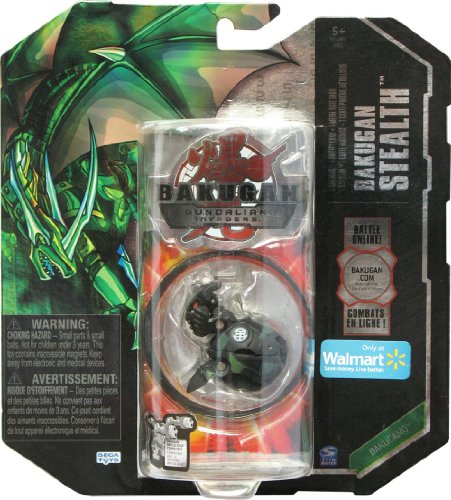 Bakugan Stealth Gundalian Invaders New Season 3 EXCLUSIVE BakuCamo (Black) Ventus HELIX DRAGONOID 740G w/DNA CODE (FACTORY SEALED) - 1