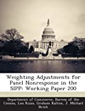img - for Weighting Adjustments for Panel Nonresponse in the SIPP: Working Paper 200 book / textbook / text book