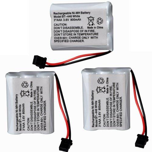 3 Pack Uniden 800Mah Cordless Phone Battery White