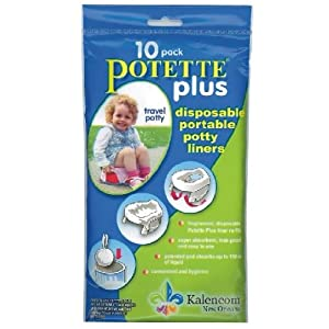 Kalencom Potette Plus - 2 in 1 On the Go Potty Liner Refills - 10 ct
