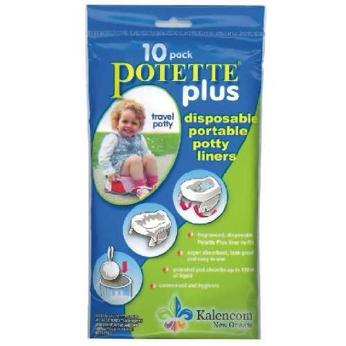 Kalencom Potette Plus - 2 in 1 On the Go Potty Liner Refills - 10 ct - 1