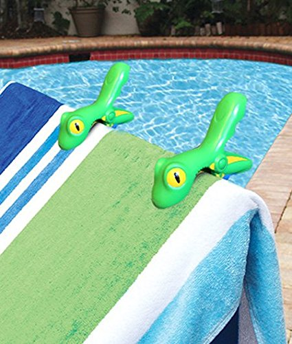 Review Of Boca Beach Towel Clips Frog Shape Towel Holders Set of 2