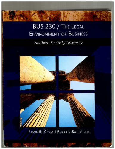BUS 230 / The Legal Environment of Business - Northern Kentucky University