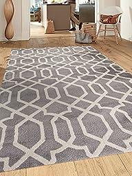 Contemporary Trellis Design Gray Soft 5\'3\