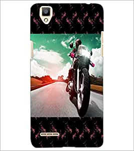 PrintDhaba Bike D-6040 Back Case Cover for OPPO F1 (Multi-Coloured)