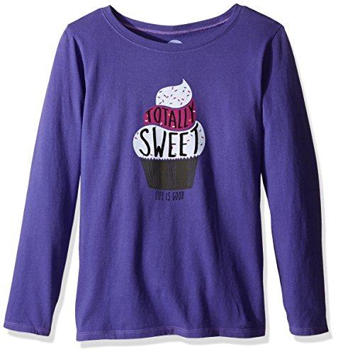 Life is good Girl's longsleeve Girls Sweet Cupcake Tee, Blue Violet, Small (Life Is Good Kids compare prices)