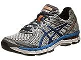 ASICS Mens GT 2000 2 Running Shoe,Titanium/French Blue/Lightning,10.5 2E US