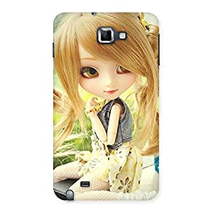 Premium Cute Smiling Doll Multicolor Back Case Cover for Galaxy Note