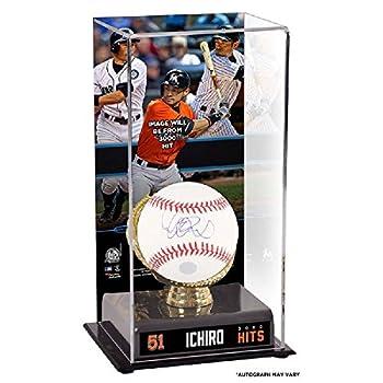 メジャーリーグ マイアミ・マーリンズ イチロー 3000本安打記念 ケース入り サインボール - -