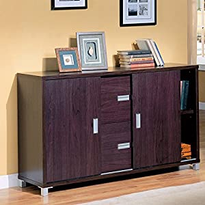 Glass Office Credenza by Coaster Furniture