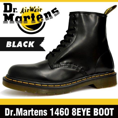[ドクターマーチン]Dr.Martens 8アイ ブーツ オリジナル 1460 ブラック スムース 8ホール #11822006[並行輸入品] 26.0(UK7/US8)