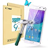 Yootech SAMSUNG GALAXY NOTE 4 Tempered Glass Screen Protector - Premium Tempered Glass Screen Protector(2.5D 9H Hardness, Superslim 0.26mm) - Guard Against Scratches and Drops - Ultra HD Clear With Maximum Touchscreen Accuracy
