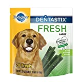 PEDIGREE DENTASTIX Fresh Large Treats for Dogs 1.52 Pounds 28 Count