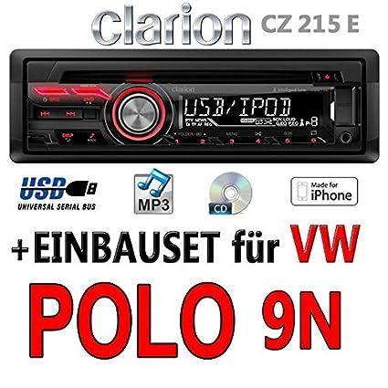 Volkswagen polo 9N-clarion cZ215E-autoradio mP3/uSB avec kit de montage