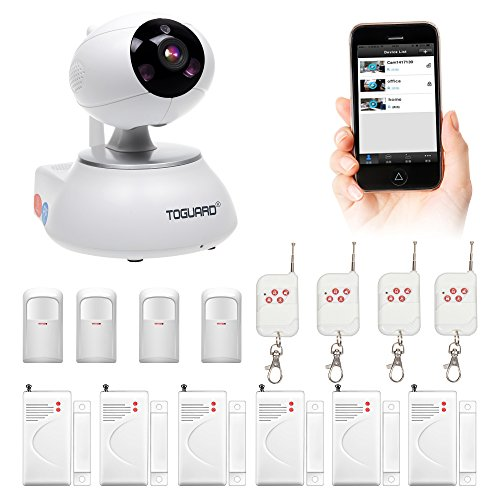 Toguard Wireless Security IP Camera Kit WIFI Home Security Surveillance Alarm System With Door 6x Sensor + PIR Body 4x Sensor + 4x Remote Control (Wi Fi Alarm System compare prices)