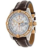 Breitling Evolution 18k Rose Gold Plated Factory Diamond Automatic Mens Watch