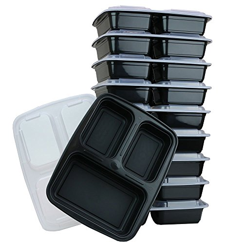All 4 You 3 Compartment Microwavable Food Container with Lid (10) (And 1 Pot Holder) (10 1 4 Lid compare prices)