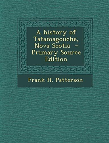 A history of Tatamagouche, Nova Scotia