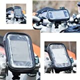 Waterproof Case with a Mororcycle / Bicycle Handlebar Mount for the Blackberry Curve 8520 Mobile Phone