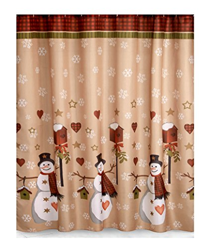 Snowman Shower Curtain Sets Comfy Christmas