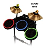 Protective skins for Guitar Hero 4 &quot;World Tour&quot; Drum set, fits Xbox 360, PS3, PS2, WII - DIAMOND PLATE