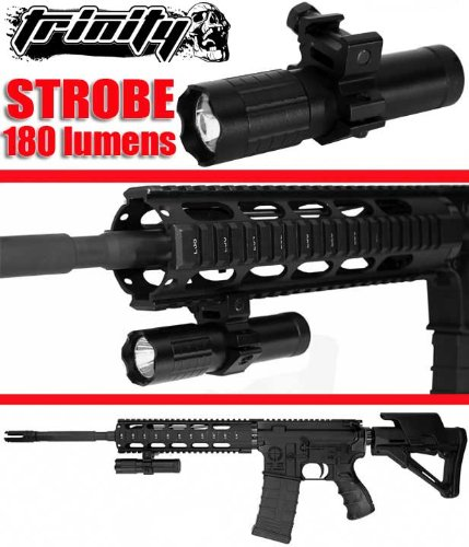Hunting Strobe Flashlight,Hunting Rifle Strobe Flashlight,Hunting Rifle Flashlight 180 Lumens,Xp2 Tactical 180 Lumen 3Watt Aaa Strobe Led Flashlight / Weaponlight W Gun Mount,Ar Rifle Flashlight, Tactical Strobe Flashlight, Fast Shipping