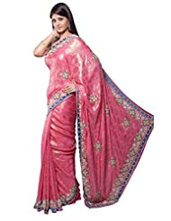Aarti Saree Crepe Stone Work Saree with Blouse Piece (Sbf7368 _As Shown In Image)