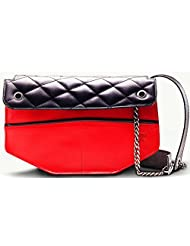 Twach Wassail Cross Body Leather Bag (Red Black)