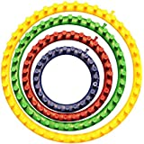 """Colourful Set of 4 Circular Knitting Looms Sizes included are 14cm (5.5""""), 19cm (7.5""""), 24cm (9.5""""), 29cm (11.5"""") by Curtzy TM"""