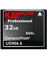 KOMPUTERBAY 32 Go Professional CARTE COMPACT FLASH CF 600X 90MB / s Vitesse Extreme UDMA 6 RAW 32 Go