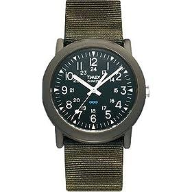 【クリックで詳細表示】[タイメックス]TIMEX 腕時計 キャンパー ブラック文字盤 カーキナイロンストラップ T41711 [正規輸入品]: 腕時計通販