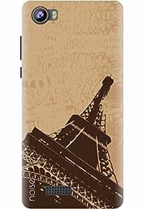 Noise Designer Phone Case / Cover for Intex Aqua 4G Strong / Patterns & Ethnic / Eiffel Design