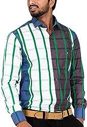 Botticelli Men's Multi Colour Checked Shirt (3009-FULL-L_Multicolor_Large)