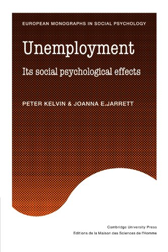 Unemployment (European Monographs in Social Psychology)