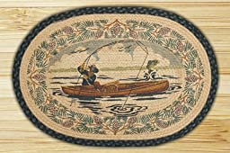 Earth Rugs 90-664 Fishing Design Oval Rug, 20 by 30\