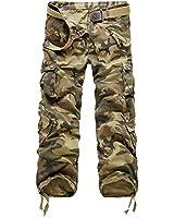 Minetom Vintage Cool d'été Homme style militaire Cargo Shorts Sports de combat Casual Pantalon