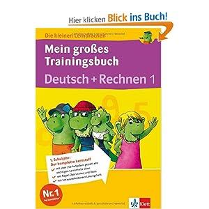 eBook Cover für  Die kleinen Lerndrachen Mein gro 223 es Trainingsbuch Deutsch Rechnen 1 Klasse Trainingsbuch mit separatem L xF6 sungsheft