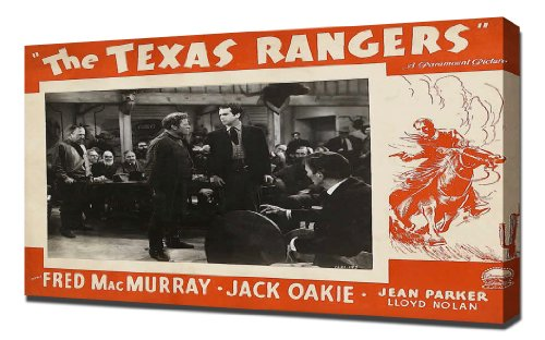 Poster - Texas Rangers, The (1936)_03 - Canvas Art Print front-436379