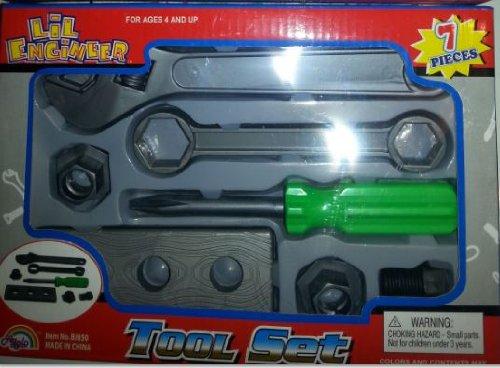 Agglo 7-pc Kids Play Tool Set Lil Engineer - 1