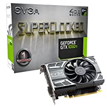 EVGA GeForce GTX 1050 Ti SC GAMING, 4GB GDDR5, DX12 OSD Support (PXOC) (04G-P4-6253-KR)
