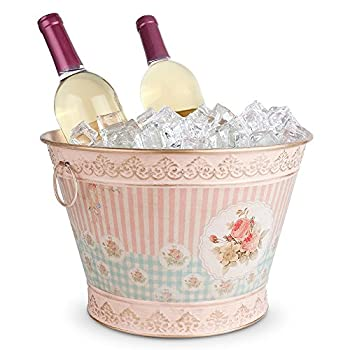 Epic Products Floral Vintage Chic Ice Bucket , Large, Multicolor