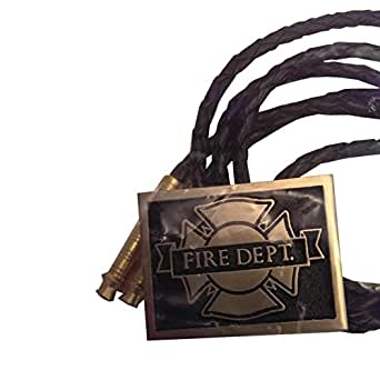 bronze firefighter Fire Department maltese cross bolo tie: Clothing