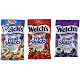 Welch's Variety Pack Bags of Fruit Snacks: Mixed Fruit, Strawberry, Concord Grape, White Grape Raspberry Made with Real Fruit with 100% Vitamin C, Fat Free, Gluten Free, No Preservatives - 16 Pack of 2.25 Oz Pouches