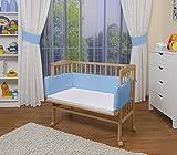 WALDIN Baby Beistellbett mit Matratze und Nestchen, natur oder weiß lackiert, 8 Modelle wählbar