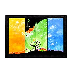 eCraftIndia Three Shades Of Day Satin Matt Textured UV Art Painting