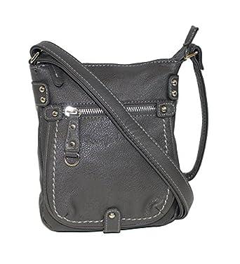 Kleine Damen Handtasche Umhängetasche Ausgehtasche in grau