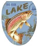Toilet Tattoos TT-1063-O Lake Fishing, Elongated